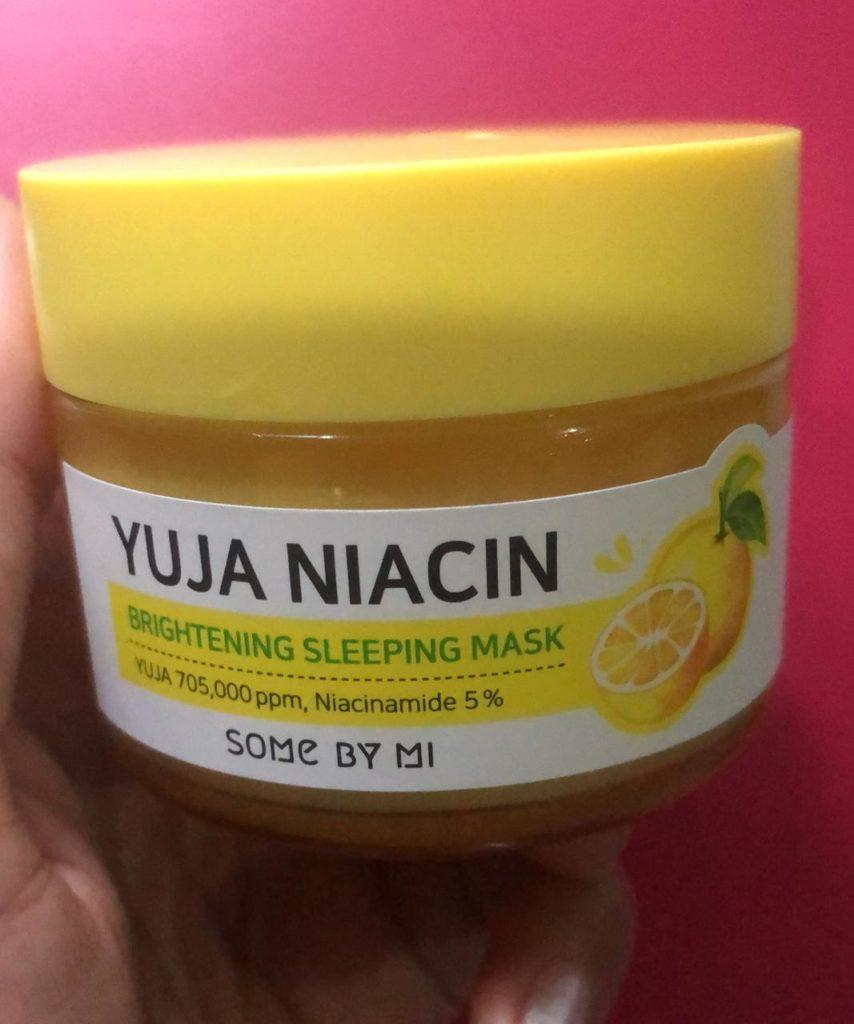 Somebymi yuja niacin sleeping mask review