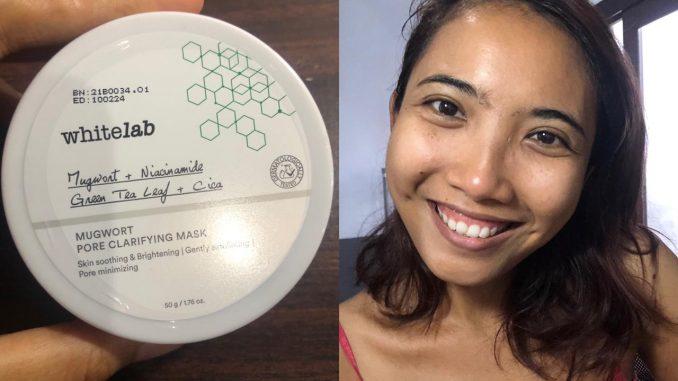 review mugwort mask whitelab